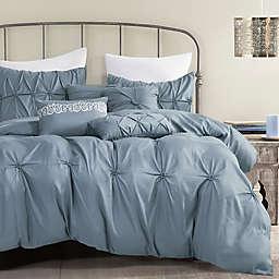 ESCA Home Cleodal 7-Piece Queen Comforter Set in Blue