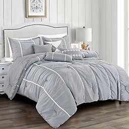 Prima 7-Piece Queen Comforter Set in Grey
