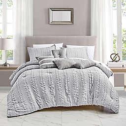 Shoney Luxury 7-Piece Queen Comforter Set in Grey