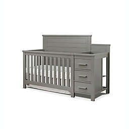 Sorelle Farmhouse Convertible Crib and Changer in Weathered Grey