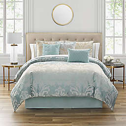 Marquis® by Waterford Tierra 7-Piece King Comforter Set in Blue/Taupe
