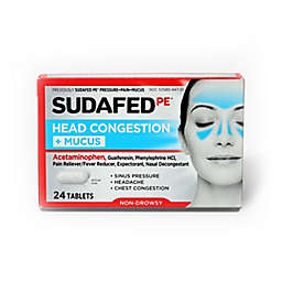 Sudafed PE® 24-Count Head Congestion + Mucus Non-Drowsy Relief Tablets