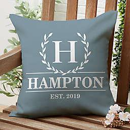 Laurel Wreath Indoor/Outdoor Square Throw Pillow