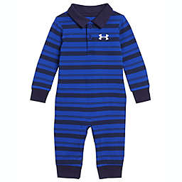 Under Armour® Long Sleeve Stripe Polo Coverall in Royal Blue
