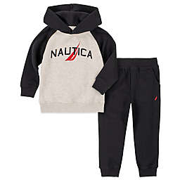 Nautica® Size 3-6M 2-Piece Super Nice Hooded Jogger Set in Grey/Black