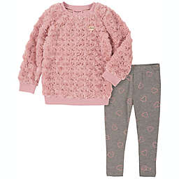 Juicy Couture® Size 24M 2-Piece Faux Fur Top and Pant Set in Pink