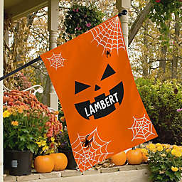 Jack-O'-Lantern Spider Web Indoor/Outdoor House Flag