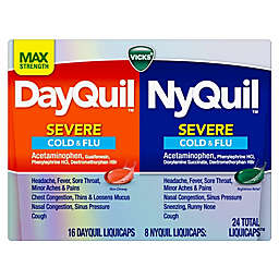 Vicks® DayQuil™/NyQuil™ SEVERE Cold & Flu LiquiCaps™ Co-Pack 24-Count