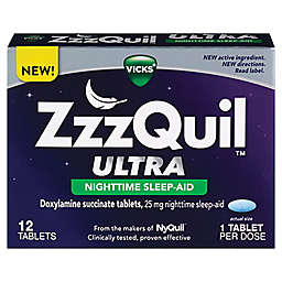 Vicks® ZzzQuil™ Ultra Nighttime Sleep Aid Tablets 12 Count