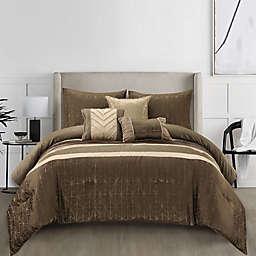 Gina 6-Piece Queen Comforter Set in Beige/Taupe
