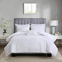 Madison Park Nicolette King/California King Duvet Cover Set in White