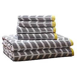 Intelligent Design Nadia Cotton Jacquard 6-Piece Towel Set