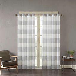 Urban Habitat Mason Yarn Dyed Woven Sheer Window Curtain Panel (Single)