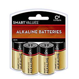 Smart Values™ 4-Pack C Alkaline Batteries