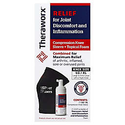 Theraworx® Joint Relief Foam 3.4 oz. and Knee Compression Sleeve (Large/XL)