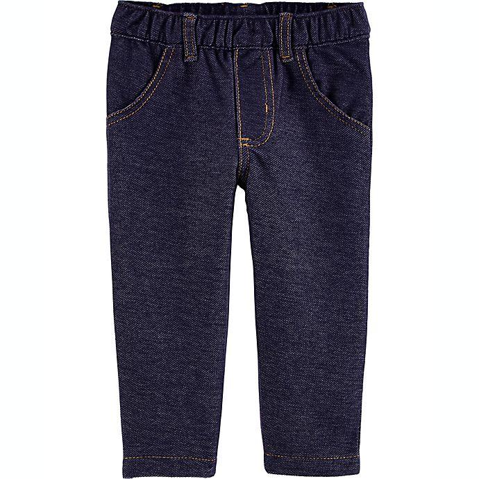 Alternate image 1 for carter's® Pull-On Knit Denim Pant