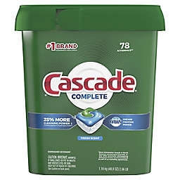 Cascade® Complete 78-Count ActionPacs Dishwasher Detergent in Fresh Scent