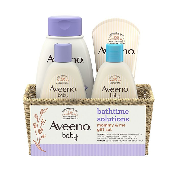Alternate image 1 for Aveeno® Baby Bathtime Solutions Gift Set