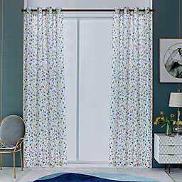 Lyndale Alexxa 108-Inch Grommet Sheer Window Curtain Panel in Mustard (Single)