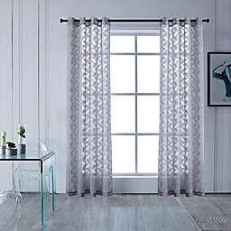 Lyndale Blake Grommet Sheer Window Curtain Panel (Single)