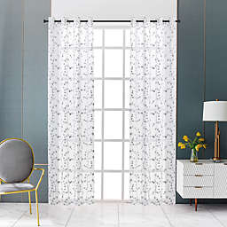 Lyndale Joy Grommet Sheer Window Curtain Panel (Single)