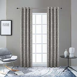 Lyndale Joy Grommet Room Darkening Window Curtain Panel in Silver (Single)