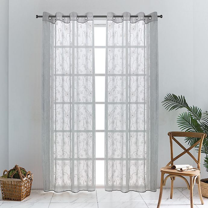 Alternate image 1 for Lyndale Lillian Grommet Sheer Window Curtain Panel (Single)