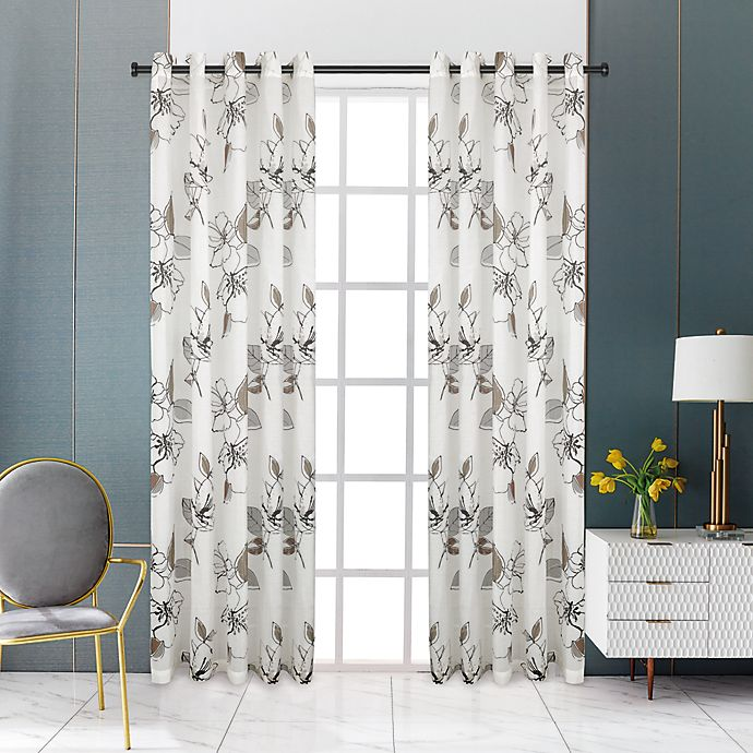 Alternate image 1 for Lyndale Nora Grommet Sheer Window Curtain Panel (Single)