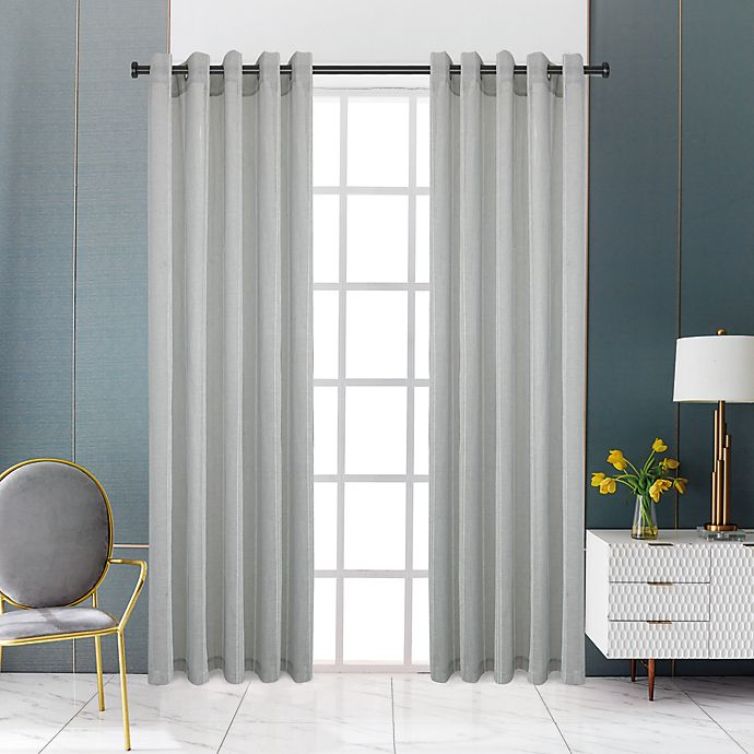 Alternate image 1 for Lyndale Rowan Grommet Sheer Window Curtain Panel (Single)