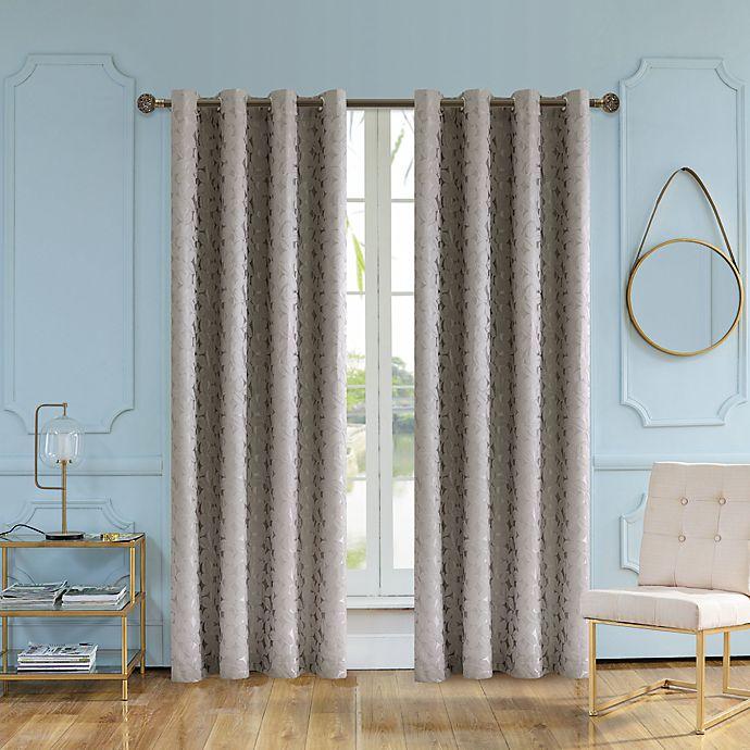 Alternate image 1 for Lyndale Simone 120-Inch Grommet Room Darkening Window Curtain Panel (Single)