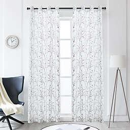 Lyndale Tess Grommet Sheer Window Curtain Panel (Single)