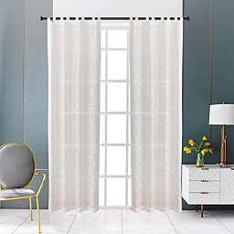 Lyndale Zaya Tab Top Sheer Window Curtain Panel in Cream (Single)