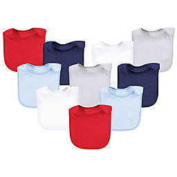 Hudson Baby® 10-Pack Rayon from Bamboo Basic Terry Solid Color Drooler Bibs