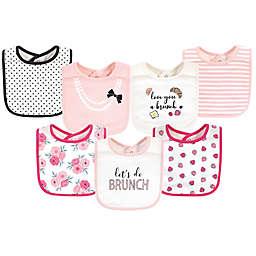 Little Treasure® 7-Pack Love Brunch Cotton Bibs