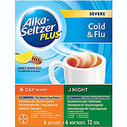 Alka-Seltzer Plus® 12-Count Severe Cold & Flu Day/Night Powder Packets in Honey Lemon Zest