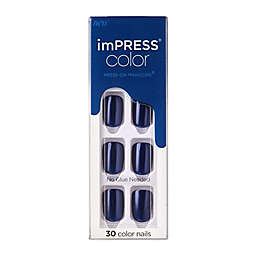KISS® imPRESS® Color Press-on Manicure® in Never Too Navy