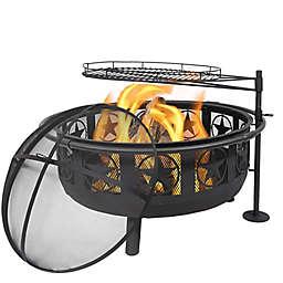 Sunnydaze All Star Fire Pit in Black