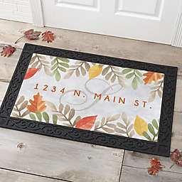 Autumn Leaves Personalized Doormat
