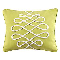 Levtex Home Deva Beach Rope Square Throw Pillow in Green