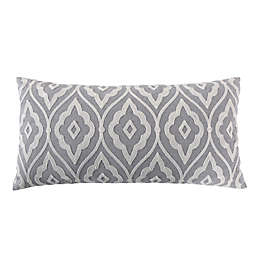 Levtex Home Tamsin Geometric Oblong Throw Pillow in Grey