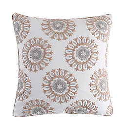 Levtex Home Nacala Medallion Square Throw Pillow in Beige