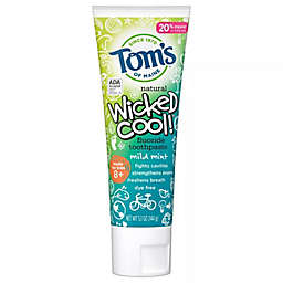 Tom's of Maine® Kid's 5.1 oz. Wicked Cool! Anti-Cavity Toothpaste in Mild Mint