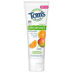 Tom's of Maine® Children's Orange Mango Anticavity 5.1 oz. Fluoride Toothpaste