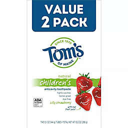 Tom's of Maine® Kids Silly Strawberry 2-Pack 5.1 oz. Fluoride Toothpaste