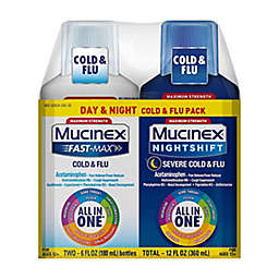 Mucinex® 2-Pack Fast-Max 6 oz. Maximum Strength Cold and Flu and Nightshift Severe Cold and Flu