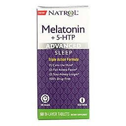 Natrol® 60-Count Melatonin + 5 HTP Advanced Sleep Support Tablets