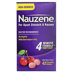 Nauzene® 42-Count Upset Stomach and Nausea Relief Chewable Tablets in Wild Cherry Flavor