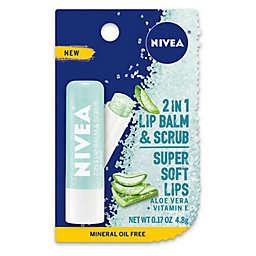 Nivea® 0.17 oz. 2-in-1 Lip Balm and Scrub with Aloe Vera