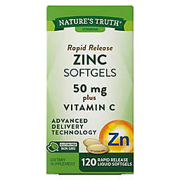 Nature's Truth® 120-Count Rapid Release Zinc + Vitamin C Softgels