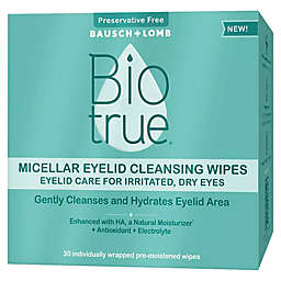 Bausch + Lomb Biotrue® 30-Count Micellar Eyelid Cleansing Wipes